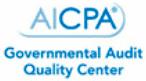 AICPA – Governmental Audit Quality Center